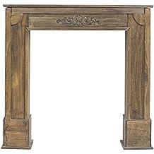 mobili rebecca chimenea decorativa decoracion madera marrn estilo rustico vintage pasillo