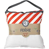 Petit Meunier Le Ferme Naturel Oreiller, 10% Duvet, 90% plumettes de Canard Neuf, Blanc, 60x60 cm