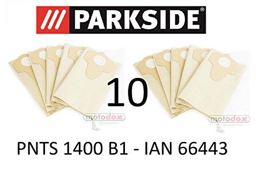 10 Parkside Staubsaugerbeutel 30 L PNTS 1400 B1 Lidl IAN 66443 braun 906-02 - Parkside Nass Trocken Sauger