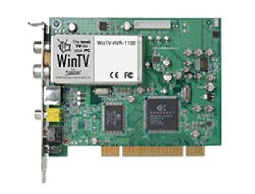 WinTV HVR-1100 PCI/ TV-Empfang: DVB-T, Analog über Kabelnetz, Analog über Antenne/ Aufnahme: MPEG-2, MPEG-1/ Feature/Anschlüsse: FM-Tuner, Videotext/ Lieferumfang: I