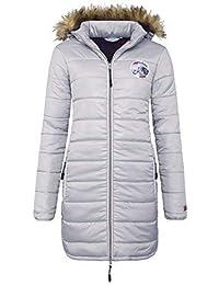 T351 - Abrigo CINDY, Abrigo, chaqueta, capucha de piel