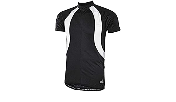 Crivit Sports® Men s Cycling Jersey Black black white Size M 48 50   Amazon.co.uk  Sports   Outdoors 6522b2f16