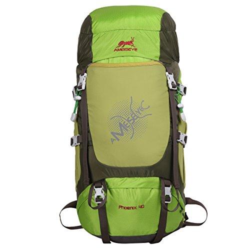 Imagen de eshow 40l  de senderismo al aire libre de nailon impermeable  montaña  de viaje para hombre y mujer color fruta verde