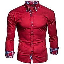 6f4f5b4488f1e Kayhan Hombre Camisa Manga Larga Slim Fit S M L XL 2XL