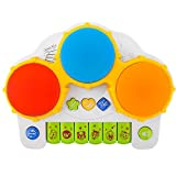 Zooawa Niños Piano Juguete, Tambor de teclado, Instrumento Musical Juguete de Aprendizaje Educativo con Luces LED Intermitentes para Niños Pequeños - Colorido