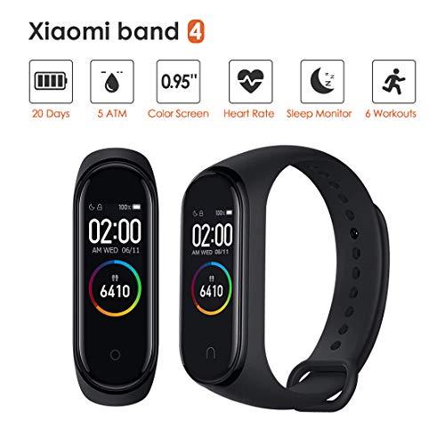 superpow Xiaomi Miband 4, Tracker d'activité, Fitness Tracker [Xiaomi Dernièrer Version] Etanche 5 ATM, Smart Watch Tensiometre Bracelet Connecté Cardiofrequencemetre Podometre