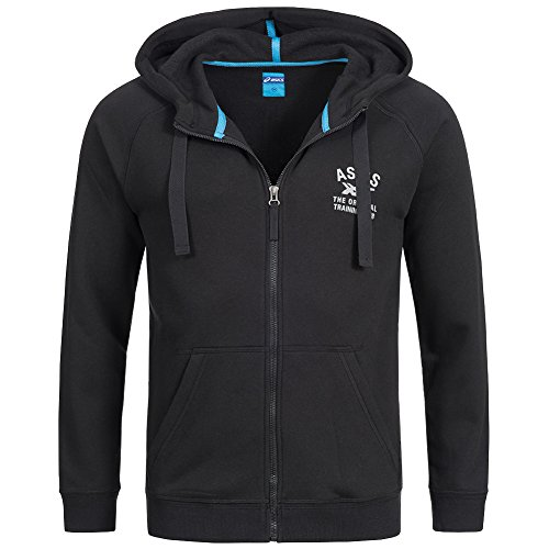 Asics Logo FZ Sweatjacke Performance Black Black