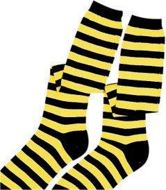 Dress up America Calcetines Negros / Amarillos de los Cabritos Accesorio del Traje del Vestido de Lujo