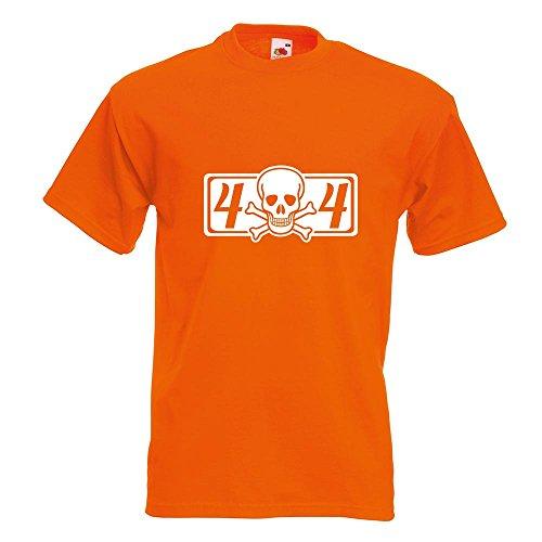 KIWISTAR - 4 x 4 Allrad T-Shirt in 15 verschiedenen Farben - Herren Funshirt bedruckt Design Sprüche Spruch Motive Oberteil Baumwolle Print Größe S M L XL XXL Orange