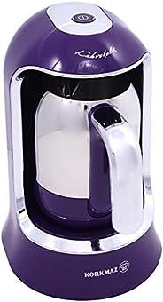 ماكينة تحضير القهوة التركية من كوركماز A860-01، 400 واط، لون بنفسجي، ماكينة تحضير قهوة من الحبوب