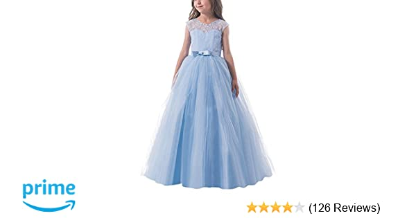 7896fcb130 NNJXD Girls Holy Communion Dresses Kids Party Prom Princess Gown
