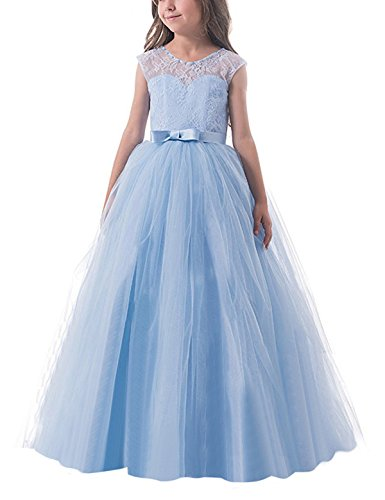 NNJXD Girl Kids Ball Gown Tulle Princess Wedding Party Prom Dress