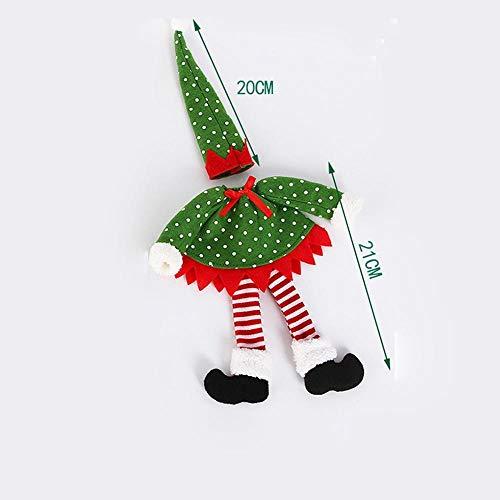 (SPFAZJ Weihnachten Dekoration Weihnachten Tischdekorationen setzen Elf Set Wein Flasche Wein Champagner Set Family Hotels Party Party Tabl E-Dekoration)