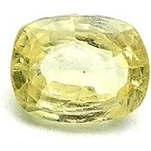 Parkash jewellers Bhagya Ratan Ceylon Yellow Sapphire Lab Certified 4.25 Ratti, 0.750g Natural Loose Gemstone for Men and Women