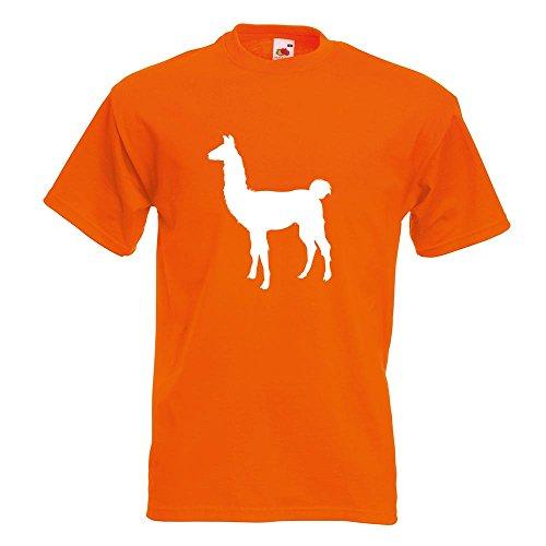 KIWISTAR - Lama Alpaca Kamel T-Shirt in 15 verschiedenen Farben - Herren Funshirt bedruckt Design Sprüche Spruch Motive Oberteil Baumwolle Print Größe S M L XL XXL Orange