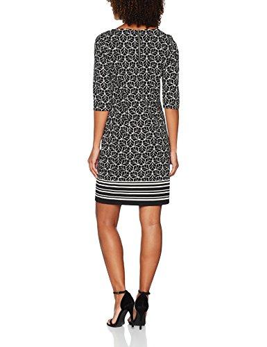 s.Oliver BLACK LABEL Damen Kleid Schwarz (Grey/Black Placed Print 99E2)