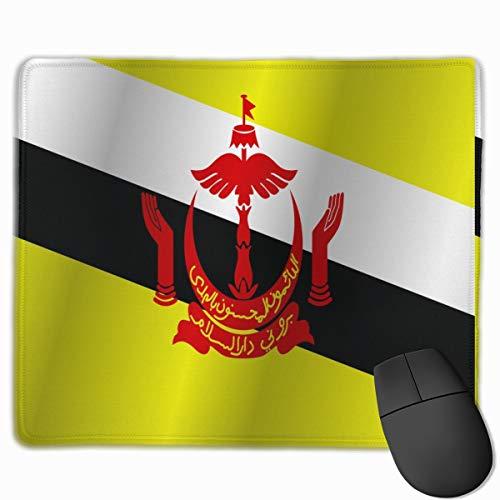 Flag of Brunei_42782 Mouse pad Custom Gaming Mousepad Nonslip Rubber Backing 9.8