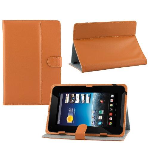 iprotect Kunstleder Tasche für MEDION LIFETAB Schutz Hülle Case mit Stylus Pen für E7315 MD98619 7 Zoll braun