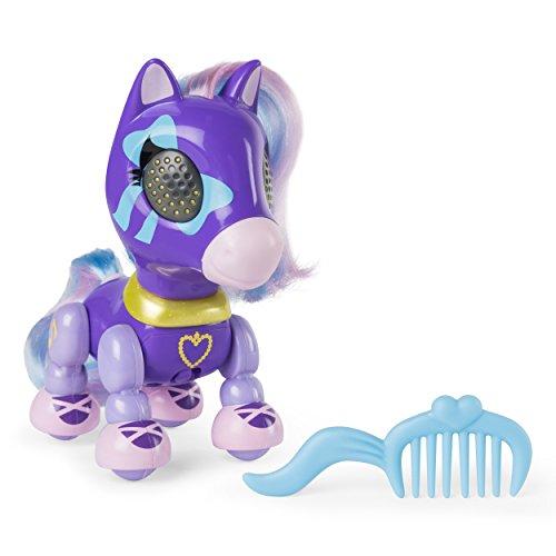 elektrisches pferd Zoomer Zupps – Pretty Ponies – Lilac – Interaktives Pony mit Lichtern, Geräuschen und Sensoren [UK Edition]