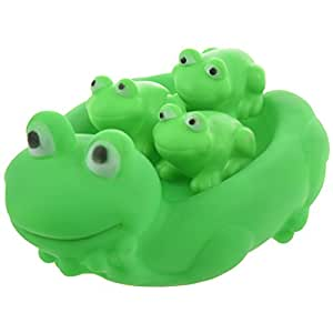 sodial r lovely mummy and baby rubber frog squeaky bath toy floating frog family bath toy. Black Bedroom Furniture Sets. Home Design Ideas