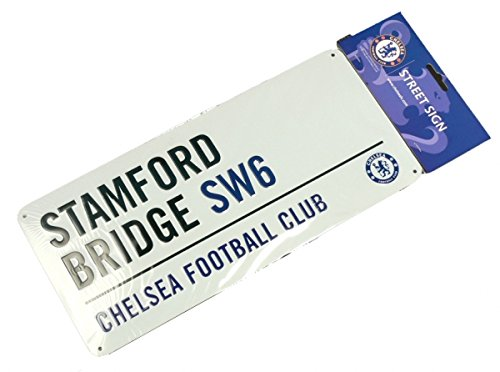 signs-unique Chelsea FC Football Club White Stamford Bridge Metal Street Wall Sign Official