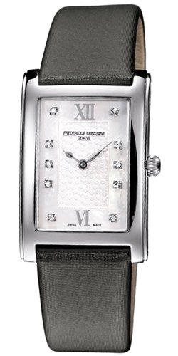 Frederique Constant Classics Carree FC-200WHDC26 26X39mm Stainless Steel Case Black Satin Anti-Reflective Sapphire Women's Watch