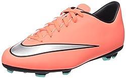 Nike Unisex-Kinder Jr Mercurial Victory V Fg Fußballschuhe, rosa/grau, 36 EU
