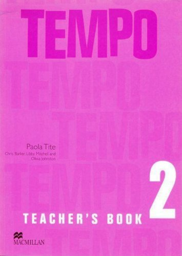 Tempo 2 Teacher's Book by Barker C (2005-07-29)