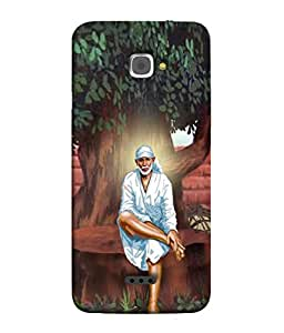 PrintVisa Sai Baba Under Tree 3D Hard Polycarbonate Designer Back Case Cover for InFocus M350