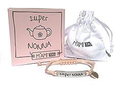 Idea Regalo - Bracciale Super Nonna di M'AMI® Tag in Acciaio