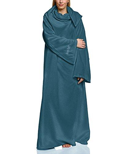 Snug Me Lite 260g pro m² Fleecedecke mit Ärmeln, kuschelige Wohndecke mit den Maßen: 152 cm x 213 cm, Farbe: Petrol