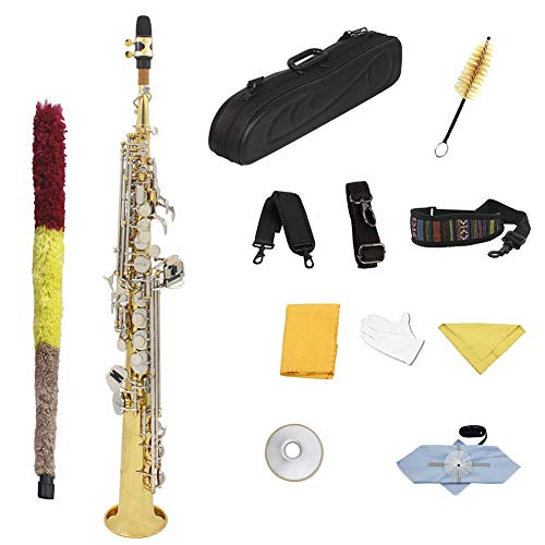 QING.MUSIC Woodwind instrument Saxophon bB Hochtöner Gold professionell spielendes Saxophon High-End-Saxophon -