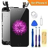 FLYLINKTECH Pantalla para iPhone 6 4.7 '',Táctil LCD de Repuesto Ensamblaje de Marco Digitalizador con botón de Inicio,cámara Frontal,Sensor de proximidad,Altavoz y Herramientas (Negro)