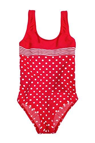 La-V Mädchen Badeanzug Rot Gepunktet/Größe 152/158