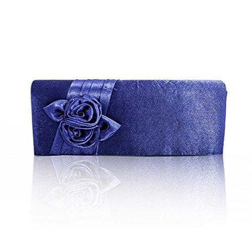 Zarla, con motivo floreale, da donna, per abiti da sera o da donna, per bambina, Clutch Bags UK Viola (Lilla)
