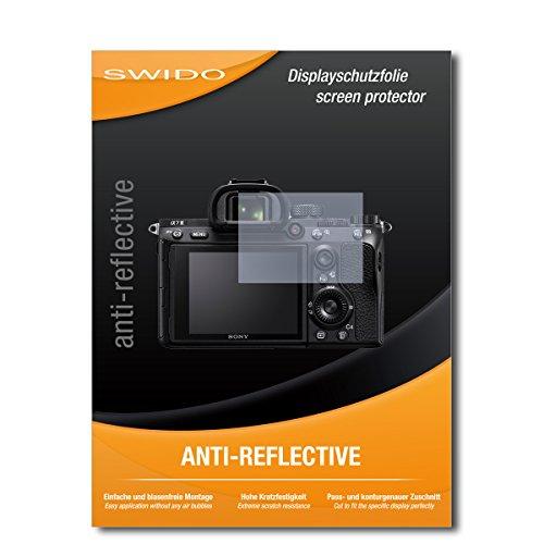 SWIDO Schutzfolie für Sony Alpha 7 III [2 Stück] Anti-Reflex MATT Entspiegelnd, Hoher Härtegrad, Schutz vor Kratzer/Displayschutz, Displayschutzfolie, Panzerglas-Folie