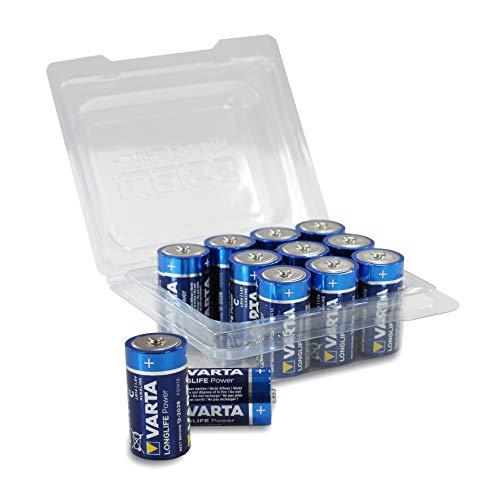Varta 4914 LONGLIFE Power Alkaline Batterie C / LR14 / Baby in praktischer 12er-Box von Weiss - More Power +