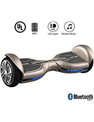 "EVERCROSS Hoverboard Diablo 6,5"" Smart Skateboard Électrique Bluetooth Scooter Certifié Norme UL2272 (Champagne)"
