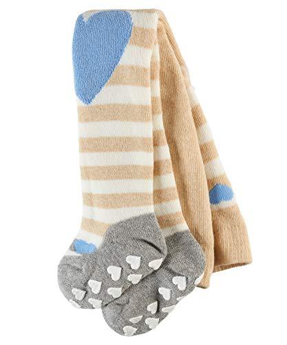FALKE Baby Mädchen Strumpfhosen / Leggings Crawler Girl - 1 Paar, Gr. 62-68, beige, Noppen Sohle, Baumwolle hautfreundlich - Warme Gerippte Strumpfhose