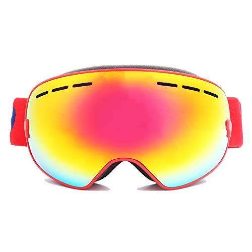 Polarisierte Sportbrille Doppelte Anti Fog Hd Skibrille Mit Sandschutzbrille Red+Eva Box+Brightener Damen Herren