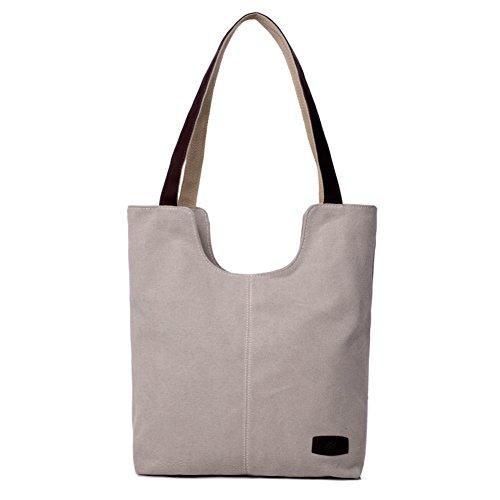 Ladies singola borsa a tracolla,borsa di tela,borsetta-marrone IL Riso Bianco