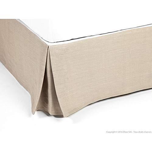 Delamaison Carol Cache Sommier, Linen, Beige, 200 X 160cm