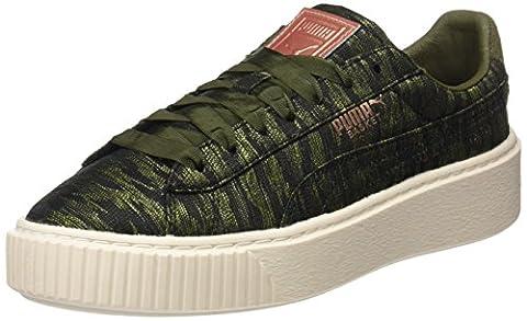 Puma Basket Platform Vr, Sneakers Basses Femme, Vert (Olive Night-Olive Night), 40 EU