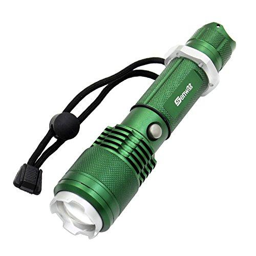 3000 lumen cree xm-l l2 led torcia elettrica ricaricabile super bright torcia 5 modalità-alto, medio, basso, stroboscopio, sos, in lega di alluminio dello zoom del fuoco della luce