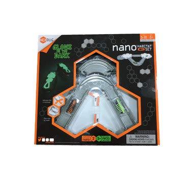 Hexbug Nano - Glow in The Dark Habitat - Spielset mit 2 x fluoreszierenden Nano und Elementen zum BAU eines Habitats