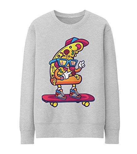 Hip Pizza Loves Street Life and Skateboarding Unisex Pullover Hoodie S 9f7024f276