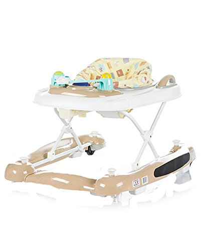 Chipolino 3-in-1 Baby Walker, Beige, Lilly Chipolino The fabric on the base easily detached and you can use it as a baby walker May be used as a cradle - base transforms into rocker Colourful tray with toys and musical panel to entertain the baby, the tray toy can also be detached and used separately 3