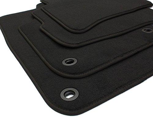 kfzpremiumteile24 Fußmatten / Velours Automatten Original Qualität Stoffmatten 4-teilig schwarz oval Drehknebel