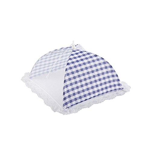 Lembeauty Pliable Parapluie Style Anti Fly Mosquito Table en Maille couvertures de Nourriture extérieur Pique-Nique Nourriture écran Tente dôme, Bleu, Small