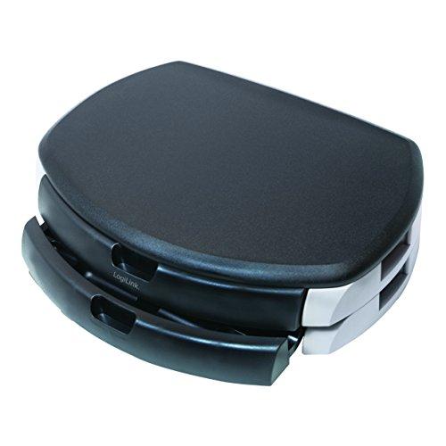 LogiLink® Bildschirm- und Druckerständer mit stabiler Holzplatte (2 cm Dicke) mit 2x Schubladen (2 Schubladen Tv-ständer)